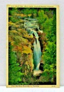 Shell Falls Shell Canon Greybull Sheridan Highway Wyoming Vintage Postcard