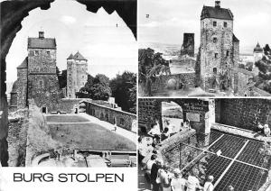 Burg Stolpen (Kr. Sebnitz) Johannisturm auf Siebenspitzen Kirchturm, Brunnen