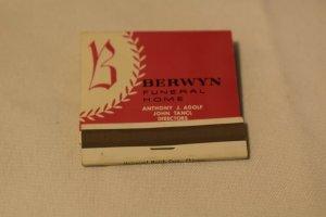 Berwyn Funeral Home Illinois Advertising 30 Strike Matchbook