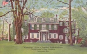 Pennsylvania Harrisburg Wheatland Home Of James Buchanan 1964 Curteich
