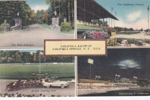 New York Saratoga Springs Raceway Horse Racing Multi View sk240