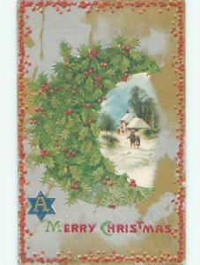 Divided-Back CHRISTMAS SCENE Great Postcard AA0179