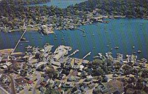 Maine Boothbay Harbor Region Aerial View Of This Boating Capital Of New England