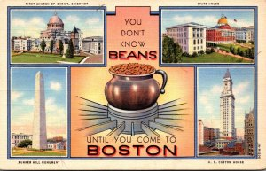 Massachusetts Boston You Don't Know Beans With Multi View Curteich