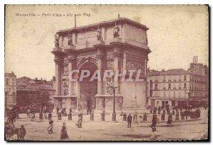 Old Postcard Marseille La Porte d'Aix Aix Gate Way