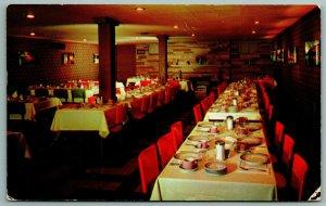 Bellville OH~San-Dar Smorgasbord Dining Room~Sugar For Tea~Here For Dinner 1958