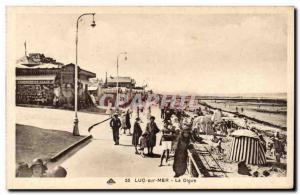 Postcard Old Luc sur Mer The dam