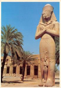 Egypt Postcard, The Statue of Panejam - Karnak Temple T24