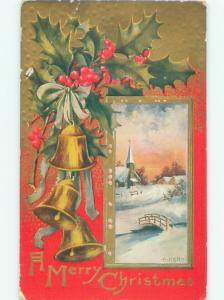 Divided-Back CHRISTMAS SCENE Great Postcard AA0393