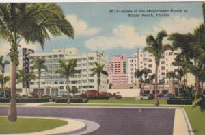 Florida Miami Beach View Of Some Of The Hotels Curteich