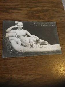 Vintage Postcard Roma Paolina Borghese