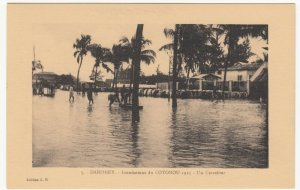 Benin; Dahomey, No 5, 1925 Cotonou Floods, A Crossroads PPC By ER Unused