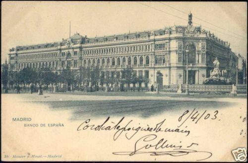 spain, MADRID, Banco de España (1903) Stamp