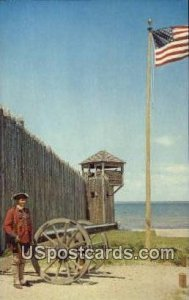 Fort Michilmackinac in Mackinaw City, Michigan