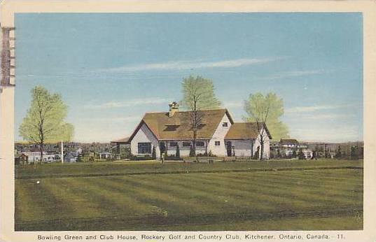 Bowling Green & Club House, Rockery Golf & Country Club, Kitchener, Ontario, ...