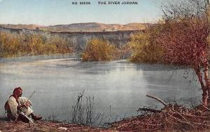The River Jordan, Native Man Rifle Hunter, Photochrom