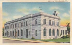 Wisconsin Oshkosh Post Office 1952 Curteich