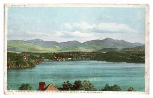 Tahawus, Colden and McIntyre from Mirror Lake, Adirondacks, NY Postcard *5N12