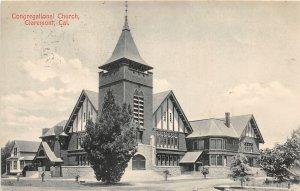 F81/ Claremont California Postcard c1910 Congregational Church
