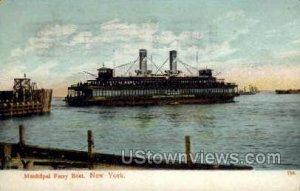 Municipal Ferry Boat in New York City, New York