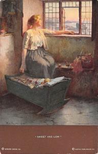 Lady Woman Sweet and Low W.L. Taylor Series Postcard
