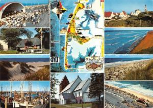 Insel Sylt Map Island multiviews Konzert Harbour Fishing Boats Lighthouse Church