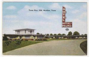 Royal Palms Motel McAllen Texas linen postcard