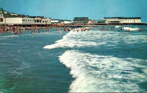 New Jersey Cape May Beach Looking North Towards Convention Hall 1956