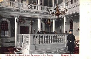 Newport RI Oldest Jewish Synagogue in The U. S. 1909 Postcard