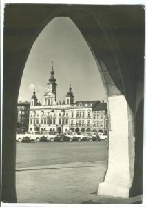Czech Republic, CESKE BUDEJOVICE, used real photo Postcard