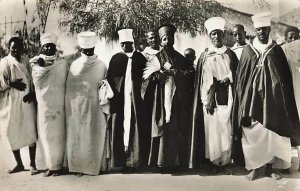 Abyssinian Clergy Vintage Postcard Ethiopia RPPC Real Photo