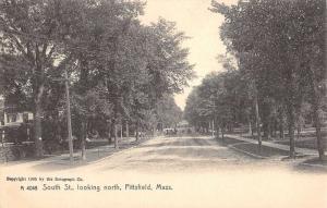 Pittsfield Massachusetts Residential Street Scene Antique Postcard K19733
