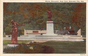 Nebraska City Nebraska~Morton Monument @ Arbor Lodge State Park~1949 Postcard