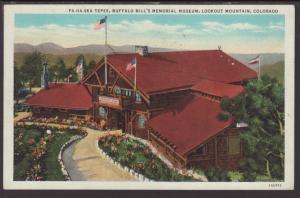 Tepee,Buffalo Bill Museum,Lookout Mountain,CO Postcard