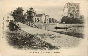 CPA Samois Le Pont de Bois et la Villa Rose FRANCE (1101210)