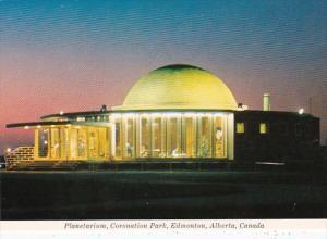 Canada Edmonton Planetarium In Coronation Park At Night