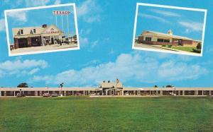 3-views,  Southern Belle Motel and Restaurant,  Mt. Olive,  North Carolina,  ...