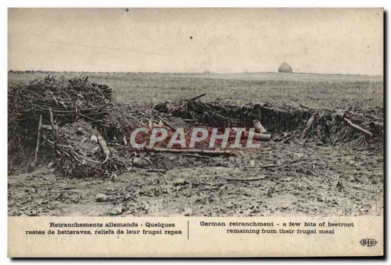 Postcard Old Entrenchments German Some leftover beets reliefs of their frugal...