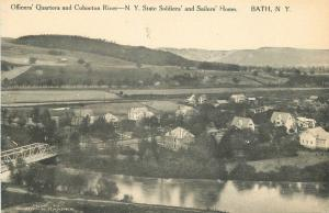 Bath New York C-1910 Officers Quarters Cohocton Soldiers Sailors Home 3234