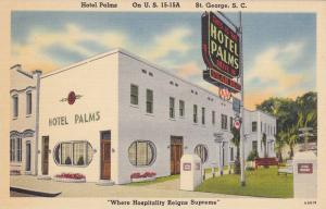 Hotel Palms, On U. S. 15-15A, St. George, South Carolina, 1930-1940s
