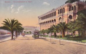 GENOVA, Liguria, Italy, 1900-1910´s; Circonvallazione A Mare, Cable Car