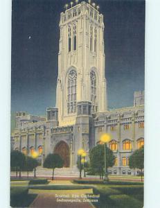 Unused Linen CHURCH SCENE Indianapolis Indiana IN L4531
