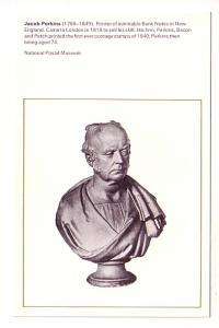 Jacob Perkins, Printer of First Postage Stamp, National Postal Museum, Englan...
