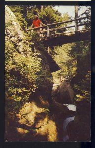 North Woodstock, New Hampshire/NH Postcard, Bridge, Lost River Reservation