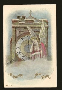 Postmarked 1910 Toronto Ont A Happy New Year Embossed Color Postcard