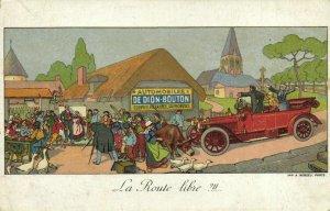 PC CPA ADVERTISING, AUTOMOBILES DE DION-BOUTON, Vintage Postcard (b22260)