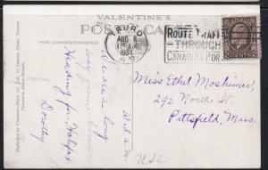 Colour Valentine-Black colour  PC Joe Howe Falls, Truro, N.S. used 1934