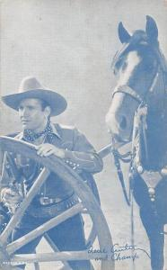Gene Autry & Champ Western Actor Mutoscope Writing on back