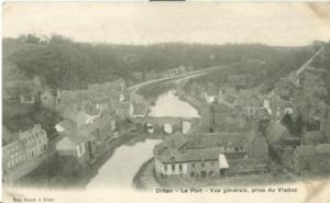 France, Dinan, Le Port, Vue generale, prise du Viaduc, ea...