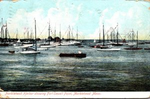 Massachusetts Marblehead Harbor Showing Fort Sewell Point 1911